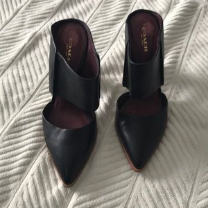 Coach Shoes - Coach leather mules